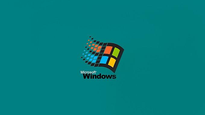 computer|digital-art|green-background|humor|logo|microsoft|microsoft-windows|minimalism|nostalgia|operating-systems|simple|simple-background