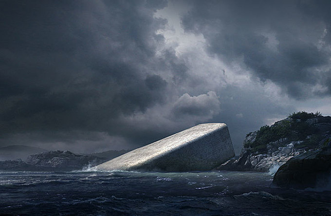 Snøhetta creates concrete shipwreck for Europe's first underwater restaurant