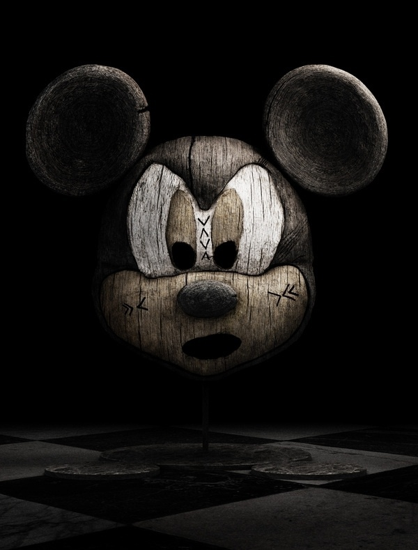 Holly Wood on the Behance Network #carving #sculpture #mickey #mouse #wood #disney