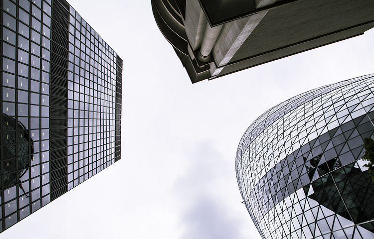 城市, 天空, 建筑物, 摩天大楼, 伦敦, 结构