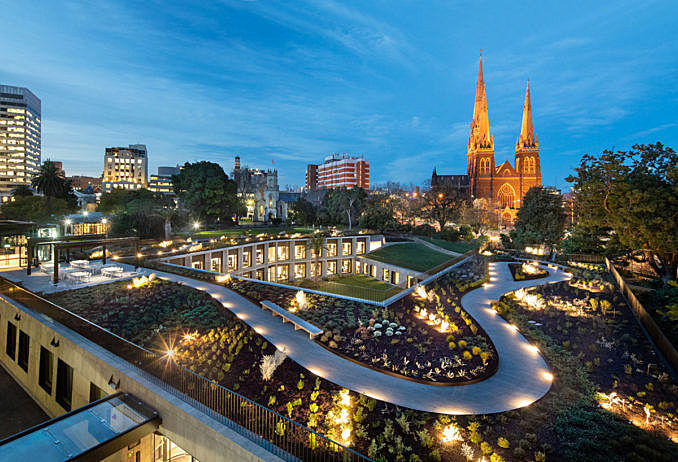 Victoria's Parliament House transformed with garden-enveloped extension August 13, 2018,AEDT