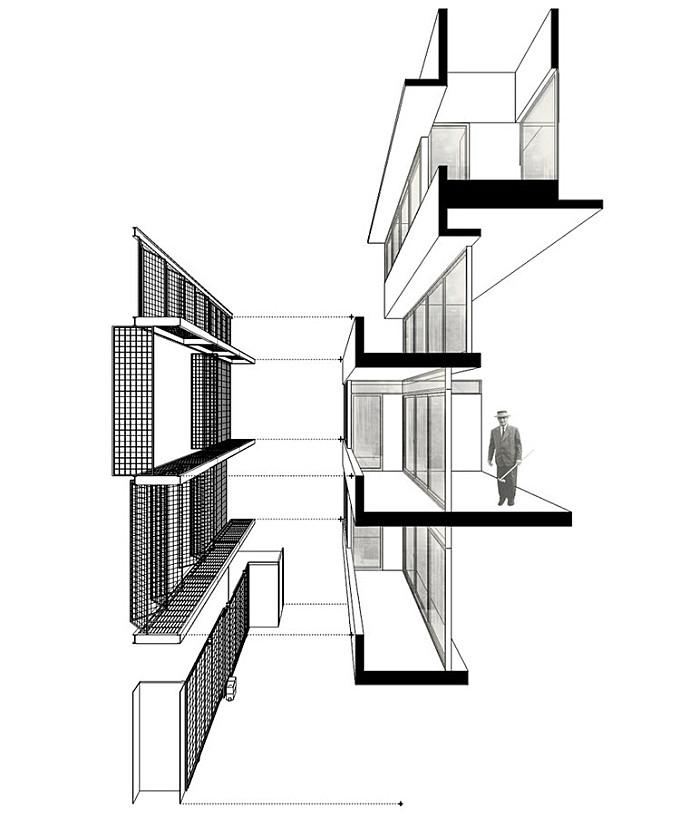 50 of the Best Facade Construction Details, Facade detail Brick House