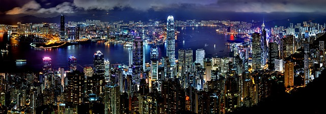hong kong skyline night architecture asia skyscraper china downtown panorama harbor port cityscape buildings city landscape scenic metropolis towers modern hong kong hong kong hong kong hong kong hong kong