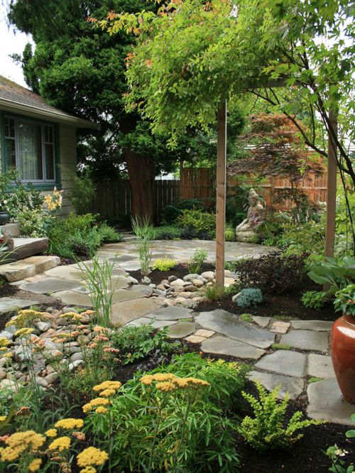 West Seattle Eco-friendly Home: patio and pathway
