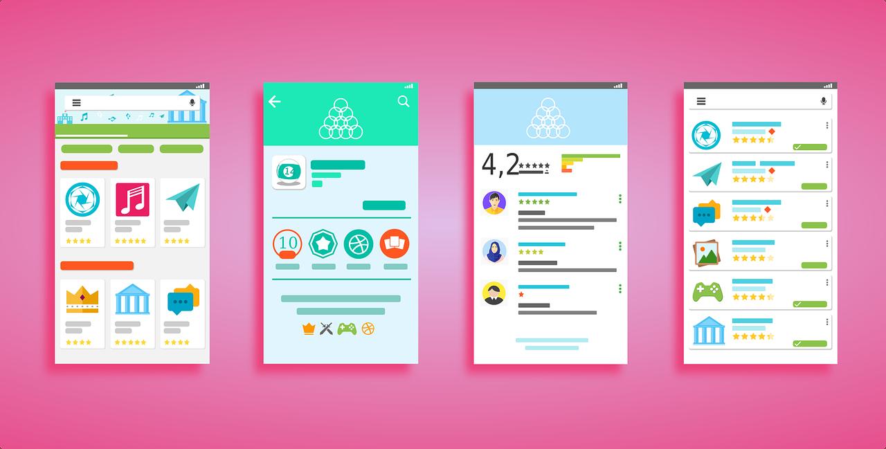 用户界面, Android 系统, 播放存储, 谷歌播放, 底纹