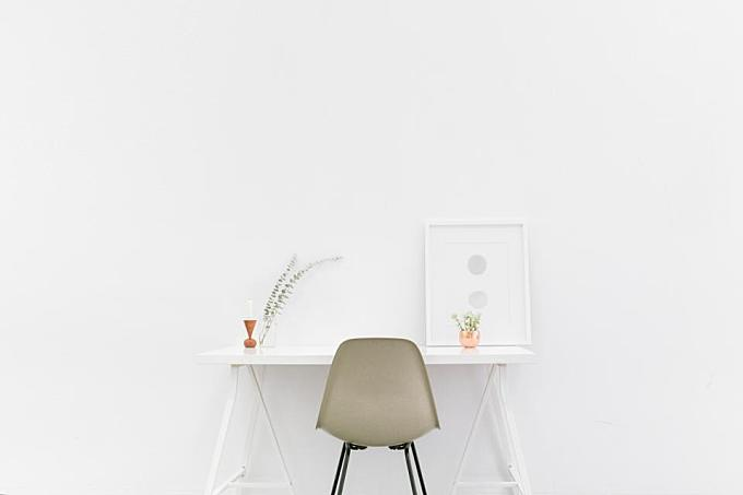 office, desk, chair, white, decor, design, creative, white, business, work, room, wall