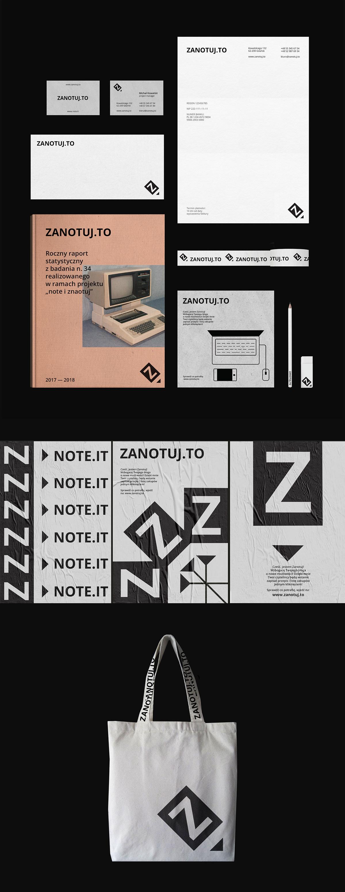 Zanotuj.to + Note.it = Bilingual logo design