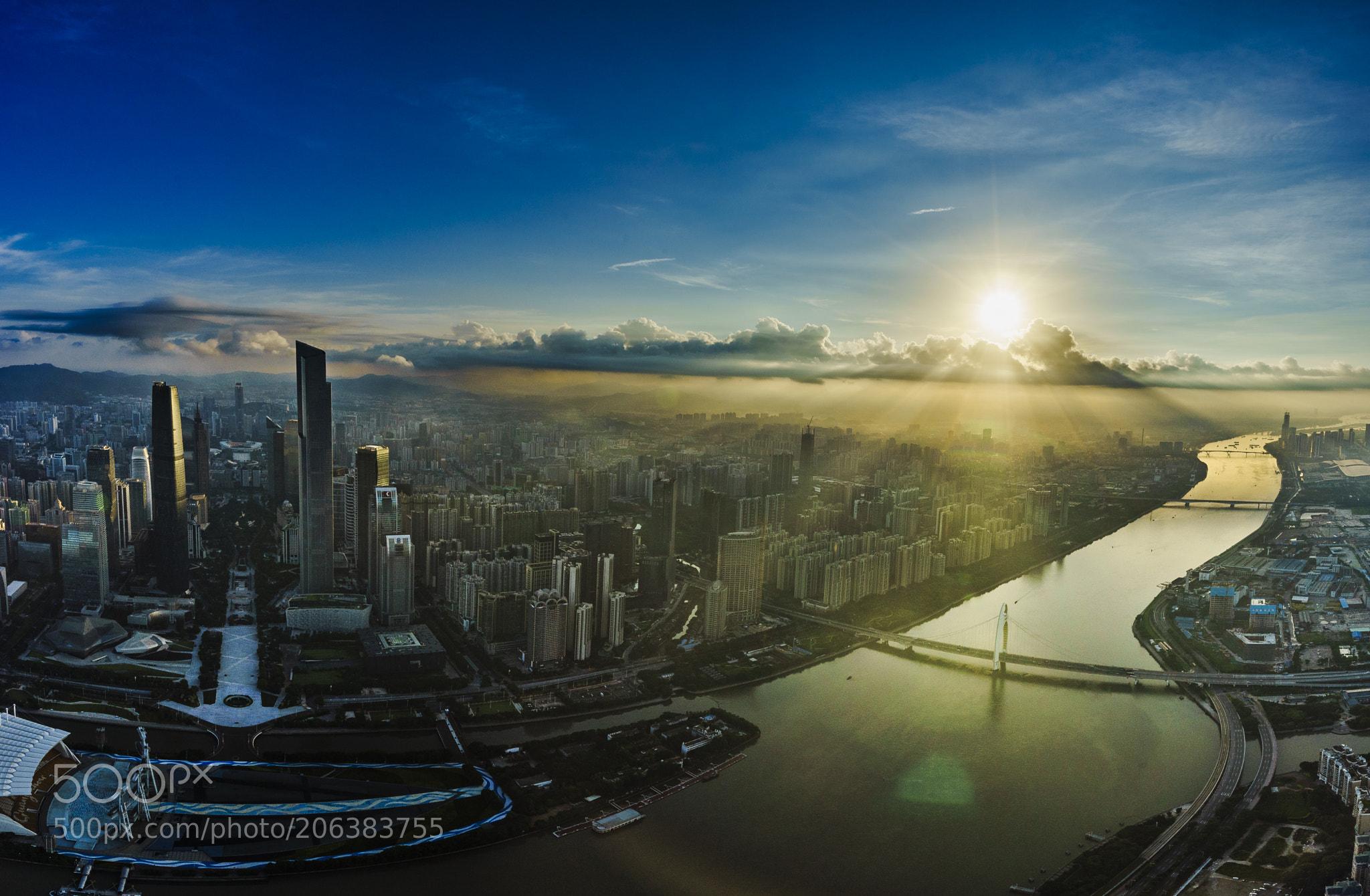 Canton-Sunrise on canton tower