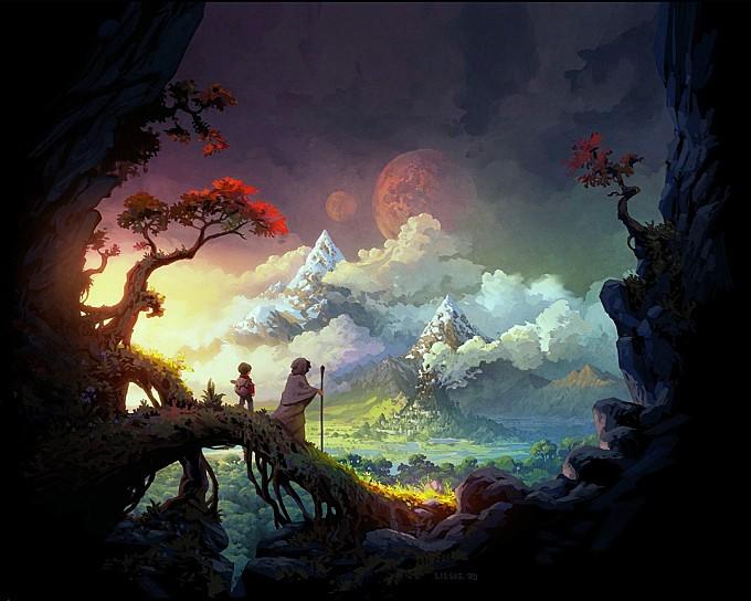 adventurers|artistic|artwork|city|clouds|colorful|comics|daniel-lieske|digital-art|fantasy|fantasy-art|landscape