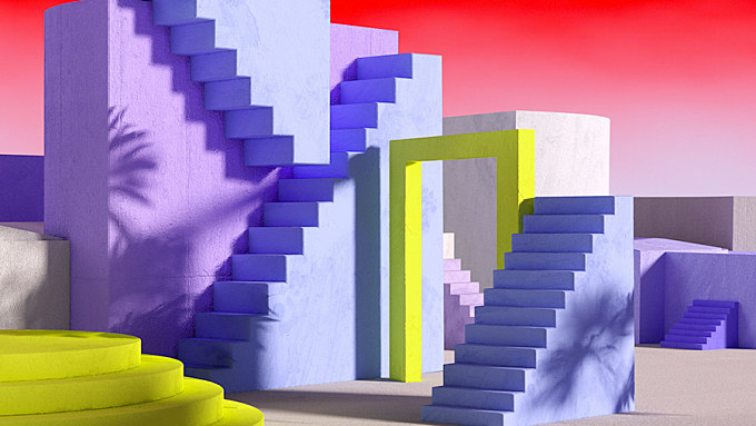 Colorful And Structural Stairs