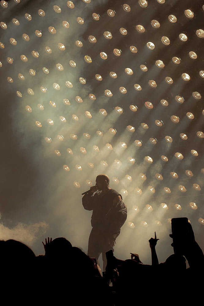 Kanye West preforms at Powerhouse in 2015