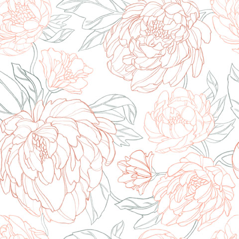 Peony and Roses Pattern