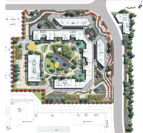 景观平面、效果图,景观效果图,住宅景观,P--景观平面图--住宅区,平立面-住宅 1