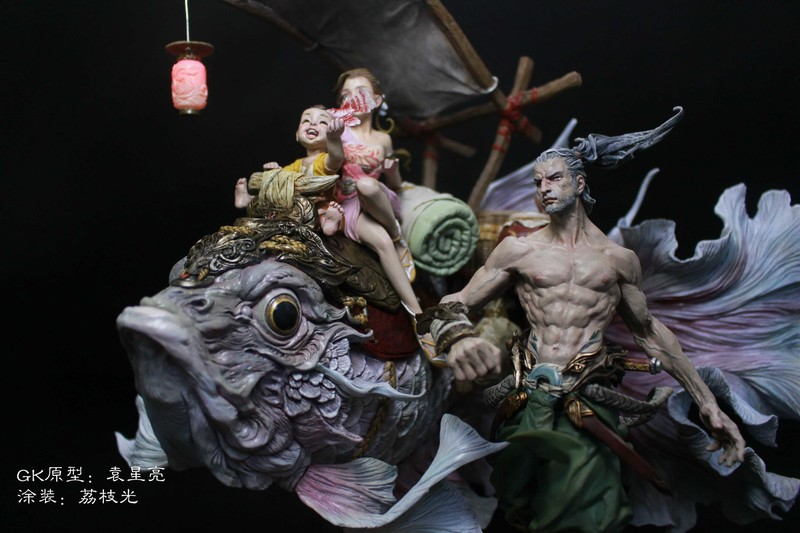The Journey of Fish and General Resin kits Garage Kit painted