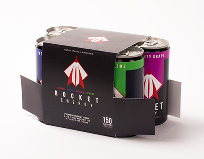 Rocket Energy Drink Package Design (Class Project)