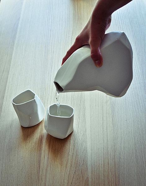 Rock ceramic set by Arkadiusz Szwed #cup #tea
