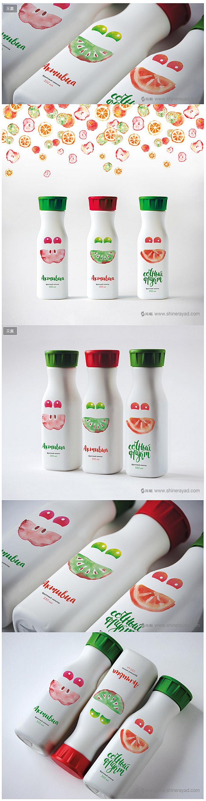 水彩手绘水果插画设计akmubua 果汁饮料饮品包装设计-上海包装设计公司-上海品牌设计公司-尚略广告