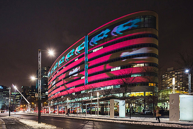 Loop's Giant Illuminated Wheels Take Over the Place des Festivals December 11, 2016,AEDT