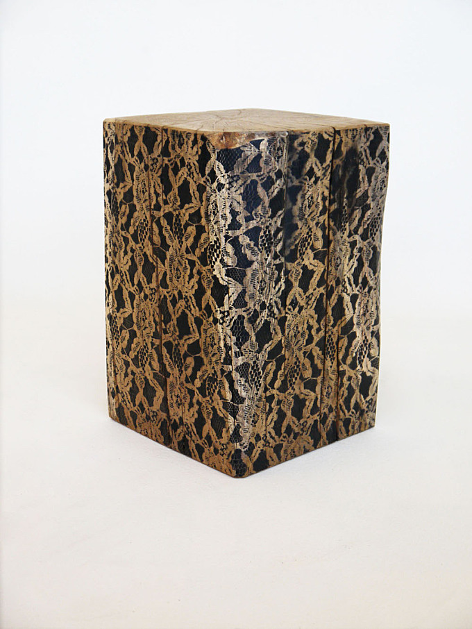 OakStool is where raw nature meets fine lacework.