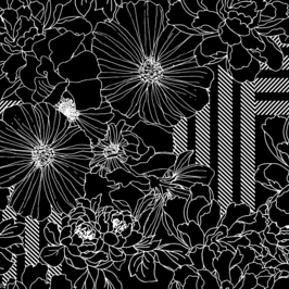 Seamless Floral Natural Bloom Pattern