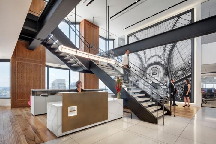 Société Generale Office by Ted Moudis Associates, Chicago - Illinois