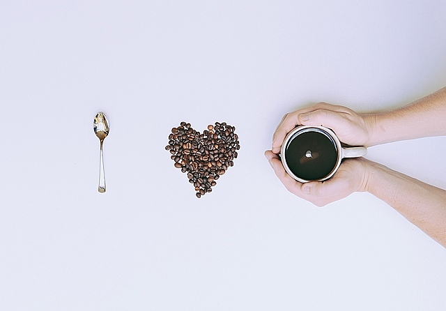 Coffee beans be heart