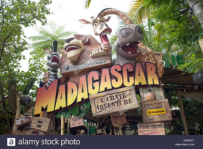 Madagascar the Ride. Universal Studios. - Stock Image