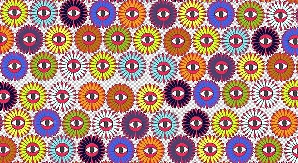flower pattern on the Behance Network #eye #colors #pattern #flowers