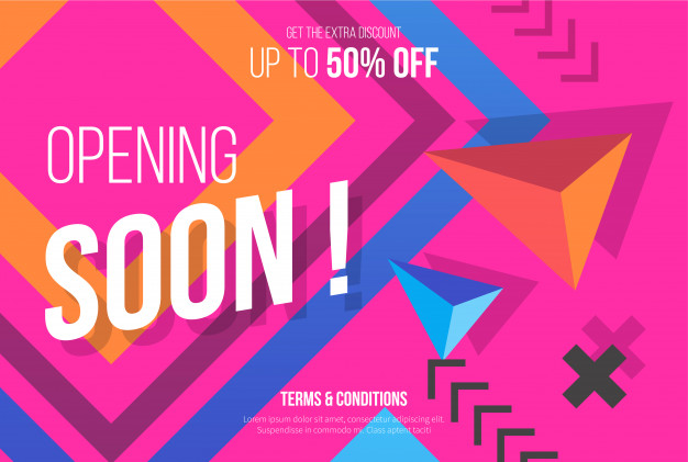 Pink Opening Soon Background