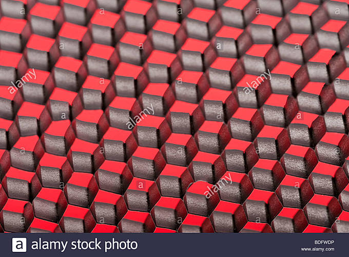 Red gray and black checkerboard pattern - Stock Image