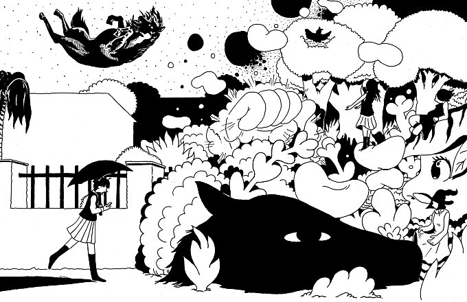 various Black and White Illustrations