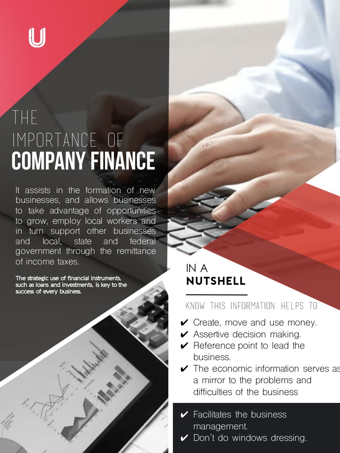Bussines poster The importance of company finance