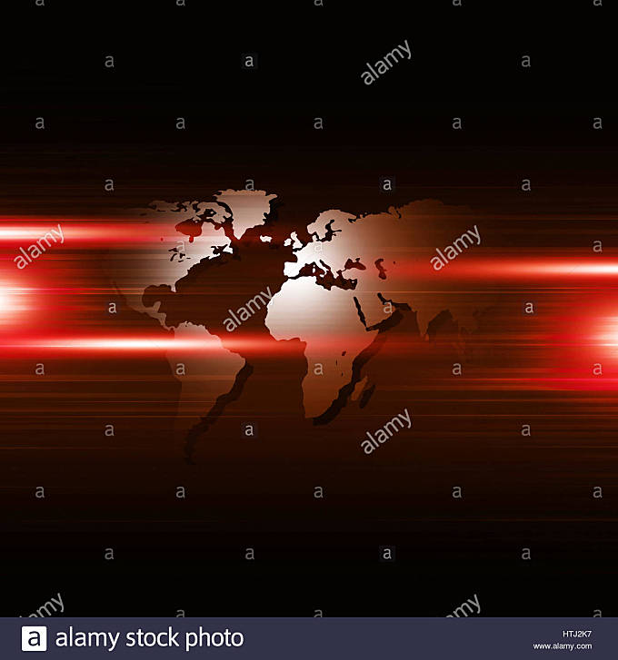 abstract business concept technology connections red background - Stock Image