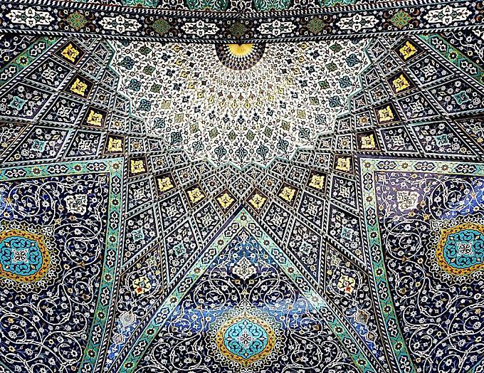 The Tessellated and Elaborately Detailed Ceilings of Iranian Mosques