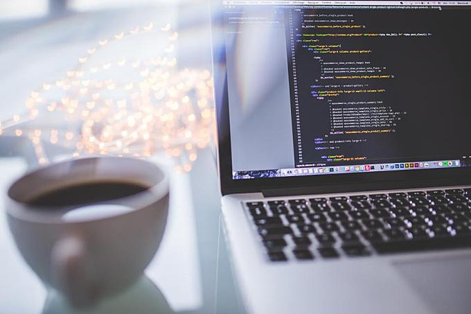 macbook, computer, laptop, technology, programming, coding, code, business, working, coffee, cup, office, desk